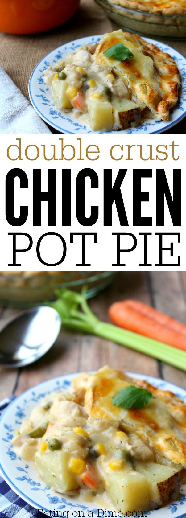 double crust chicken pot pie - easy to make and delicious