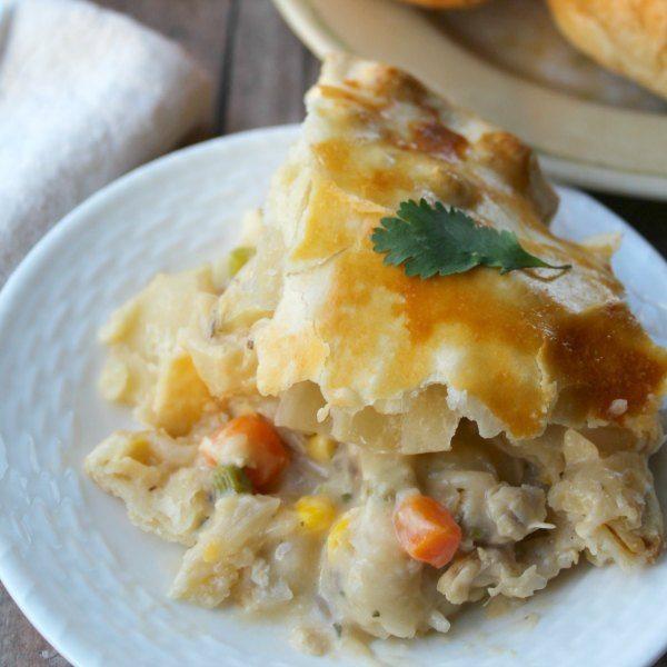 double crust chicken pot pie square