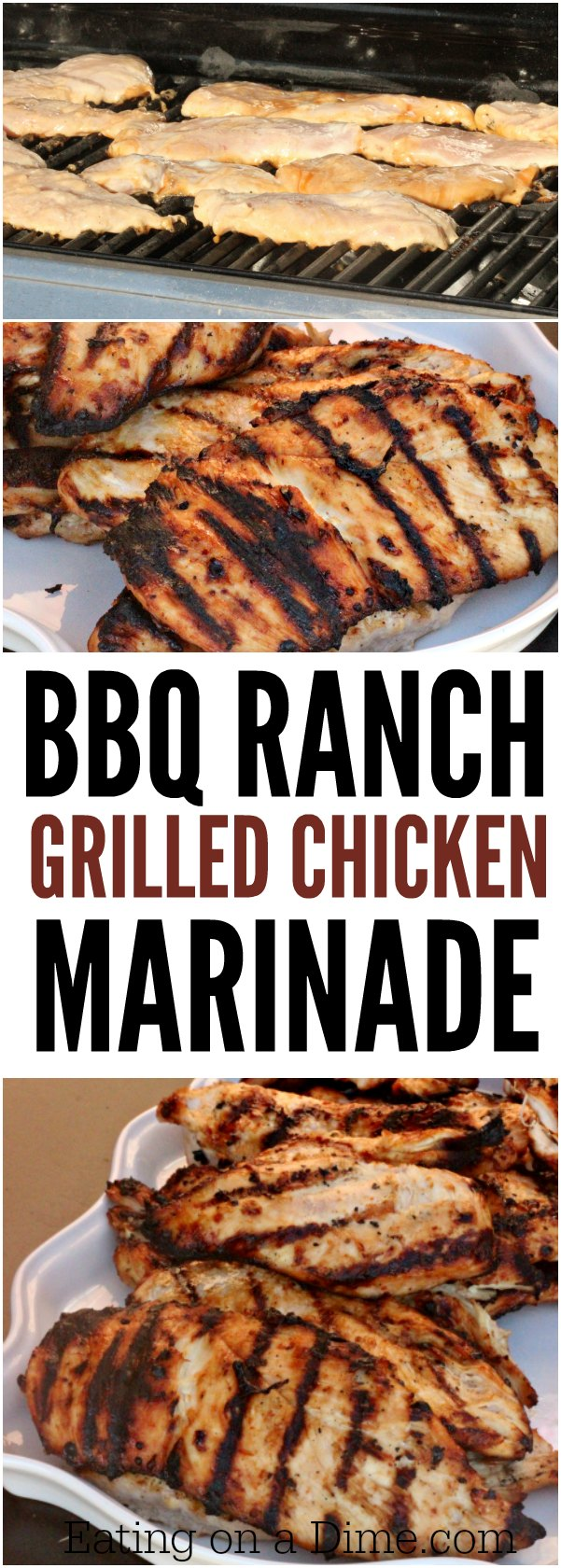 One of our favorite chicken marinades - bbq ranch grilled chicken marinade. This is the one of the best grilled chicken marinades that I know you will love.