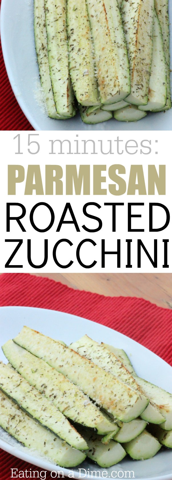 Parmesan Roasted Zucchini recipe is easy to make and tastes great. Cooking zucchini isn't hard. This is one of my favorite healthy zucchini recipes.