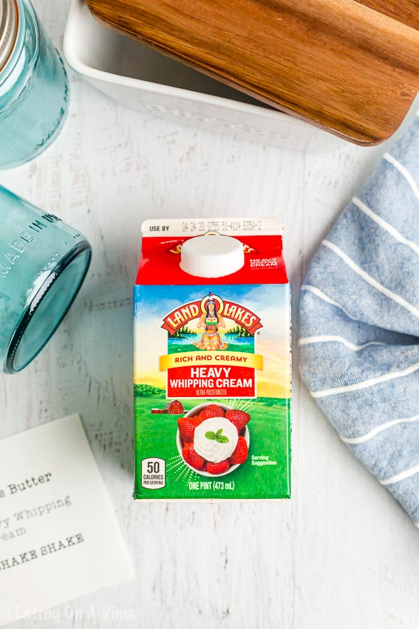 Once you learn how to make butter with heavy whipping cream you'll be hooked! Making butter at home is super easy and it tastes so good!