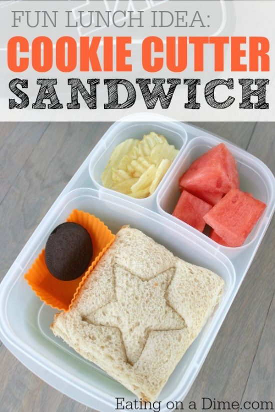 Cookie Cutter Sandwich an Oreo, watermelon and chips