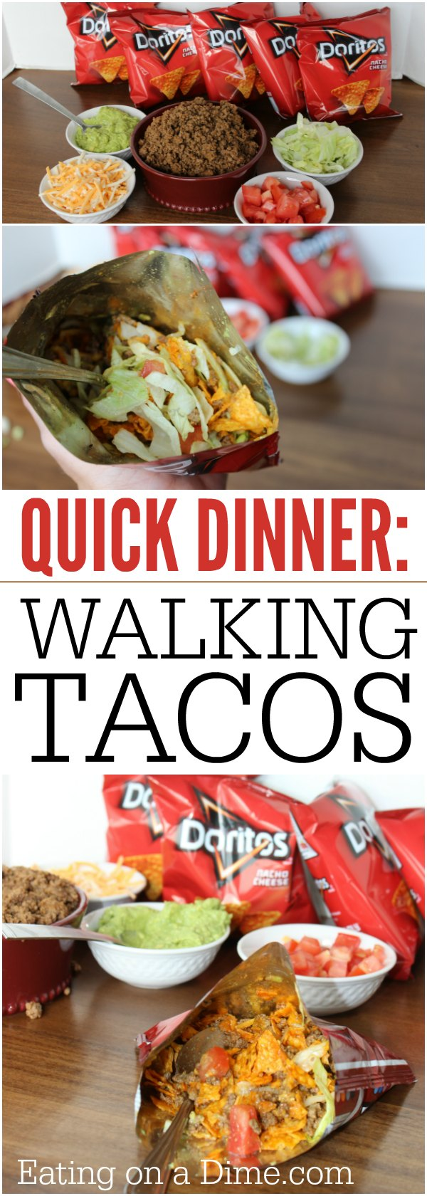 What is a walking taco? You are going to love this walking tacos recipe. It is easy to make and the entire family loves Walking tacos. Learn how to make a walking taco. We love making a walking taco bar for parties!
