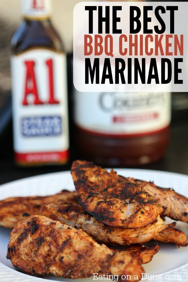Best Bbq Chicken Marinade Recipe 2 Ingredients Eating On A Dime