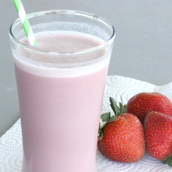 strawberry protein shake square