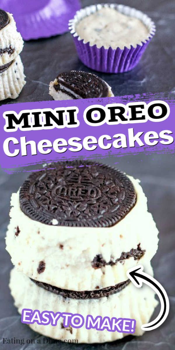 This mini oreo cheesecake recipe is one of the easiest dessert recipes around! Who can resist oreos and cheesecake all rolled into one portable dessert?