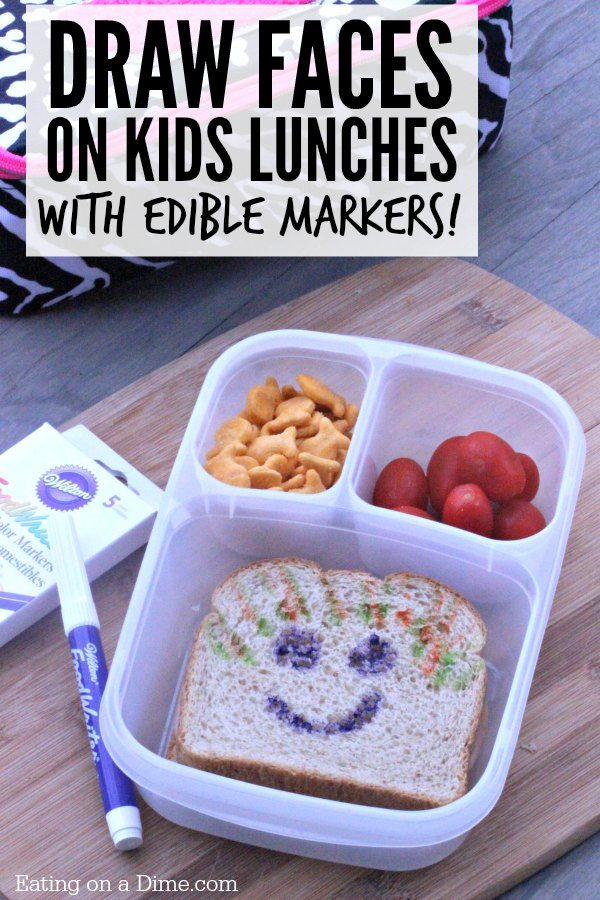 How To Customize Your Kids Lunch With Edible Markers