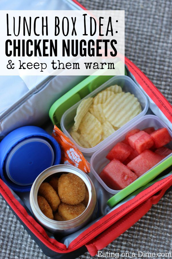 Baked chicken nuggets lunch box idea eating on a dime baked chicken nuggets in a school lunch is really fun keep these baked chicken nuggets forumfinder Gallery