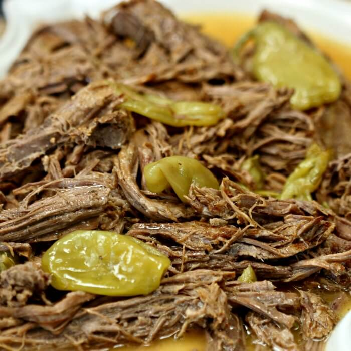This Mississippi Pot Roast Recipe is so simple and delicious! It only has a few simple ingredients and the crockpot does all of the work!