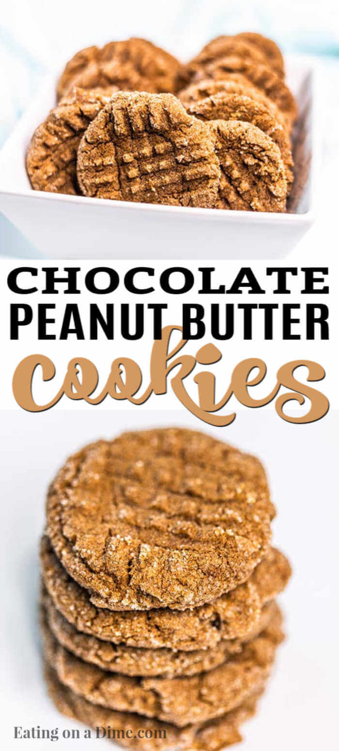 You will love this easy Chocolate peanut butter cookies recipe because you only need 4 ingredients! It is so delicious and simple to make.
