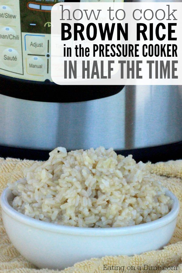 Brown Rice Pressure Cooker Recipe Eating On A Dime