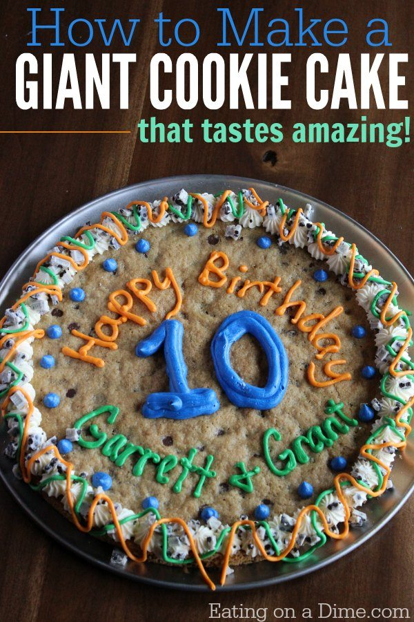 How Can I Make A Cookie Cake