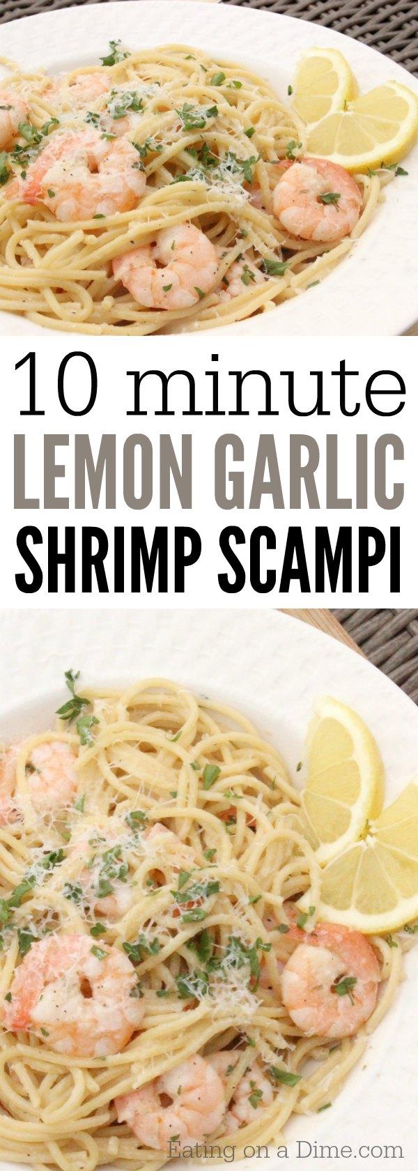 Lemon Garlic Shrimp Scampi Recipe Easy Shrimp Scampi