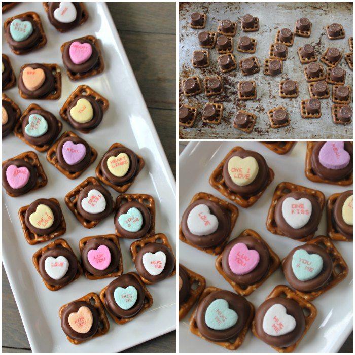 Make these Valentine's Day Rolo Pretzels. They are the easiest Valentine's day dessert and the easiest chocolate pretzels!