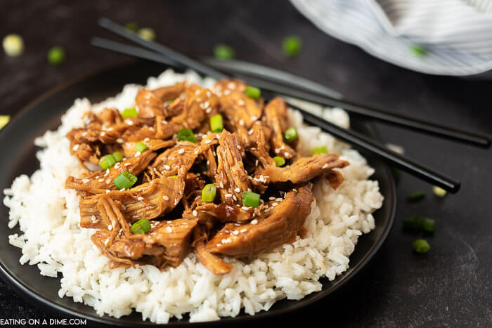 Crock pot teriyaki chicken recipe is so easy and the perfect weeknight dinner idea. The sauce is flavor packed and amazing served over rice.