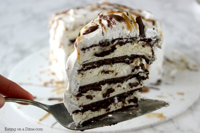 Cake Ice Cream On Top : Easy Ice cream Cake Recipe - Easy Ice Cream Sandwich Recipe