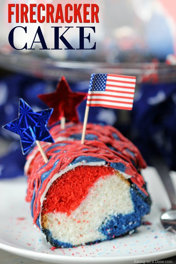 Red White And Blue Cake Quick And Easy 4th Of July Cake
