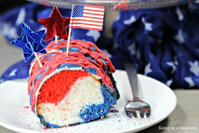 Duncan Hines Red White And Blue Cake