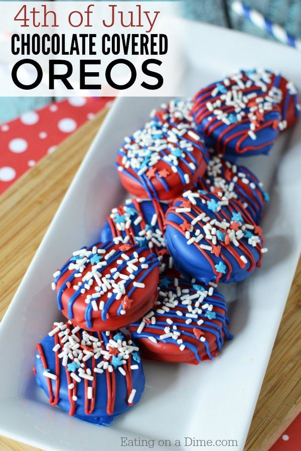 4th Of July Chocolate Covered Oreos Easy 4th Of July Desserts