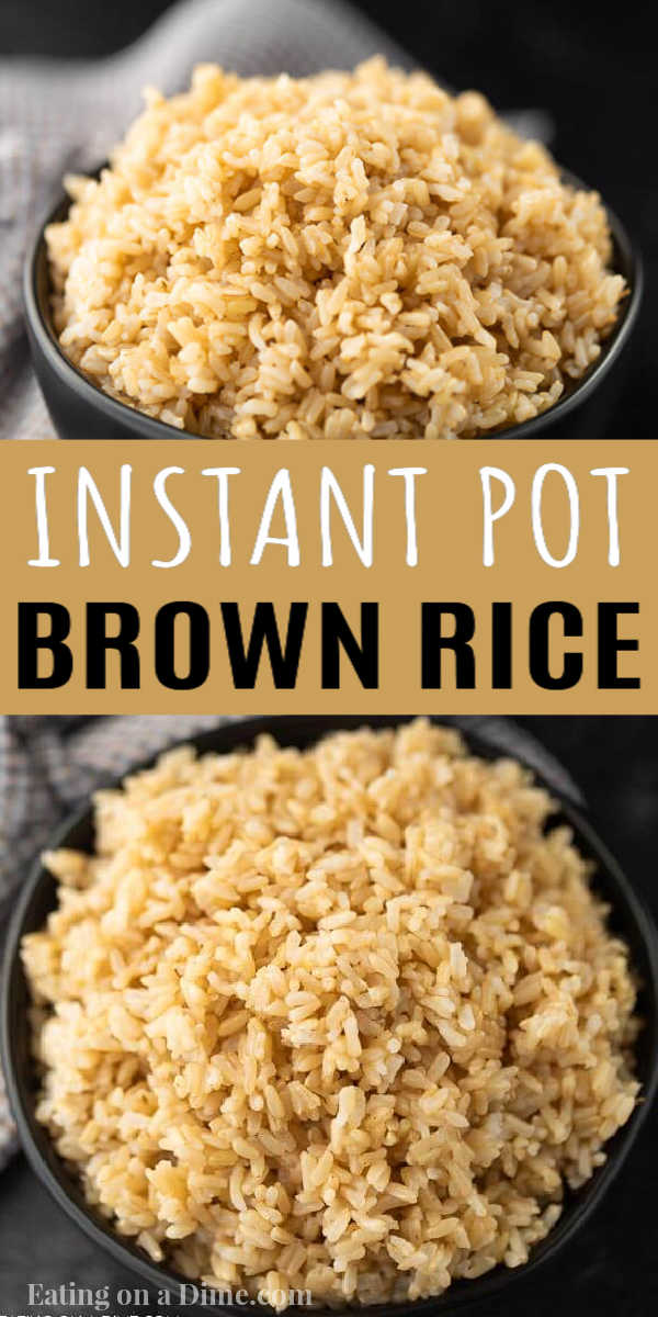 This instant pot brown rice is easy to make and tastes delicious too. This pressure cooker brown rice recipes is the best! Brown Rice in the instant pot is the best way to make brown rice! #eatingonadime #instantpotrecipes #pressurecookerrecipes #brownricerecipes