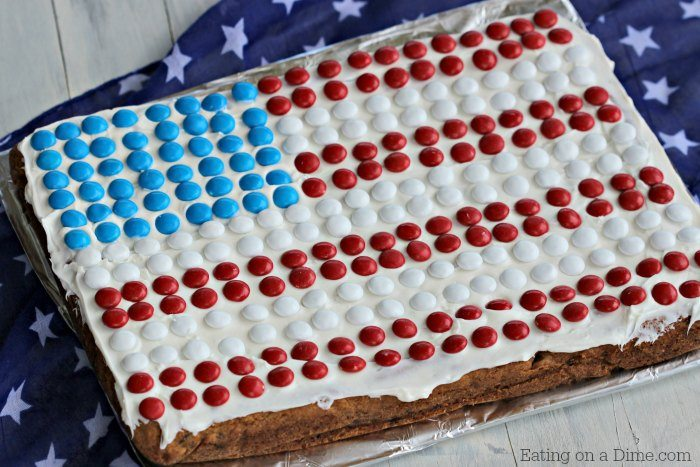 American Flag Cookie Cake Recipe Easy 4th Of July