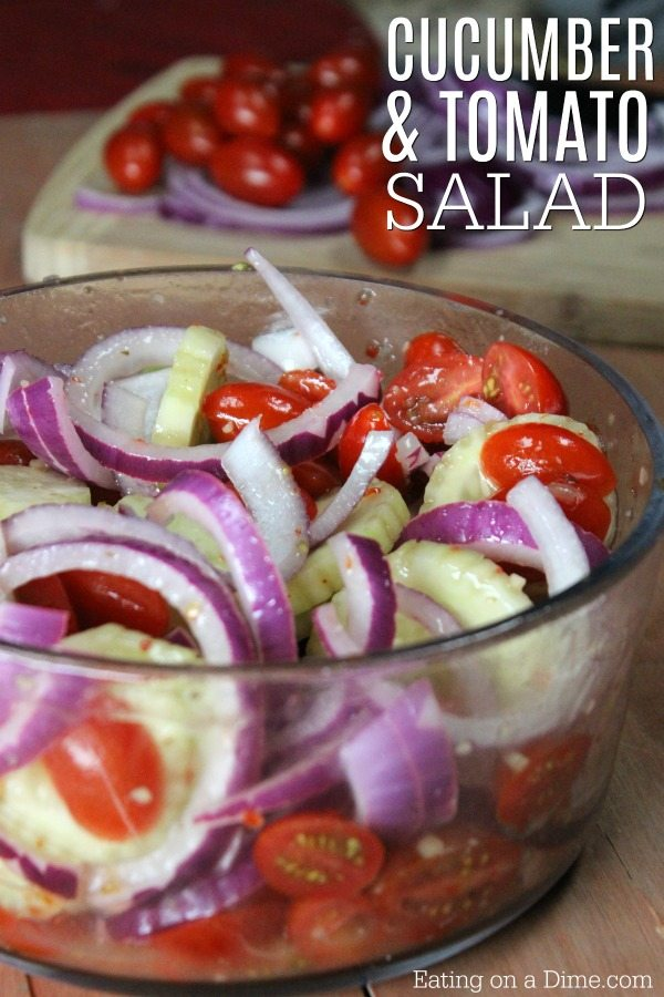 Cucumber Tomato Salad recipe - Easy cucumber tomato onion ...