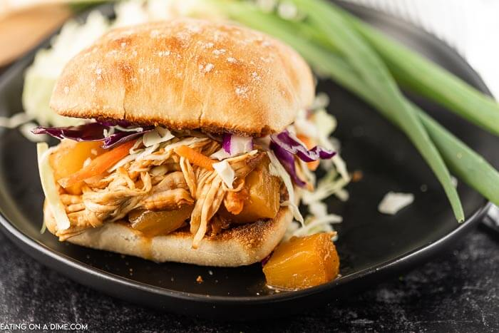 Instant Pot Hawaiian BBQ Chicken sandwiches easily serve a crowd and come together with little work. It's the perfect recipe for busy nights.