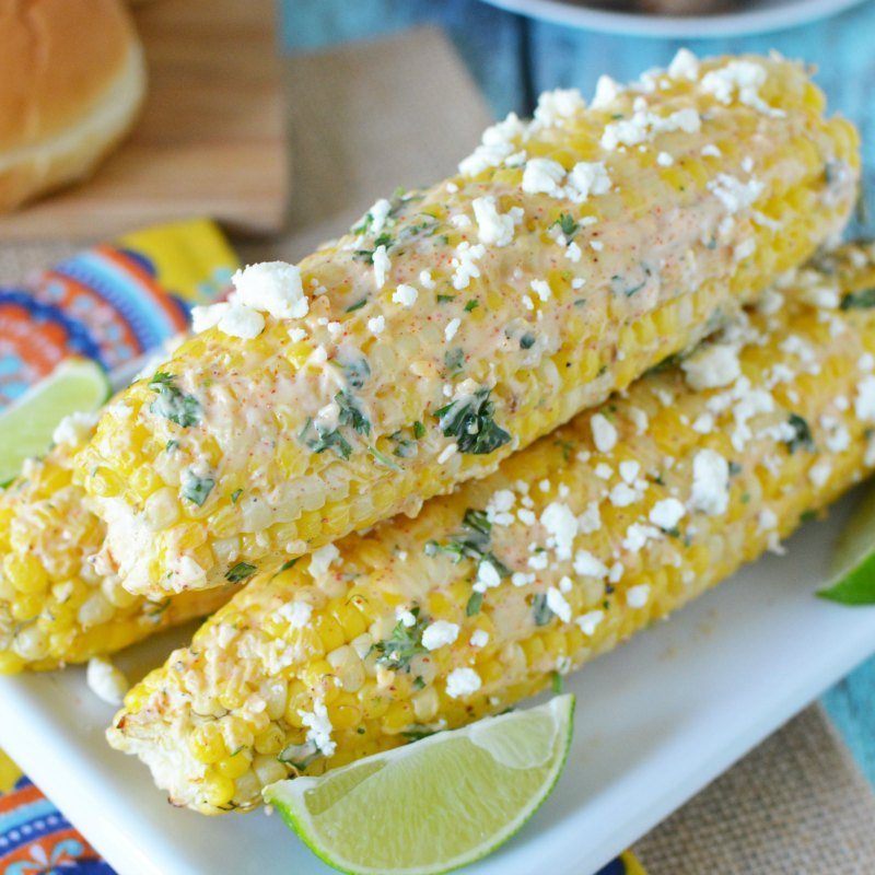 Easy grilling recipe! Try this simple Mexican Corn on the cob recipe. It tastes just like authentic Mexican Street corn. You will love this mexican corn recipe at your next BBQ.