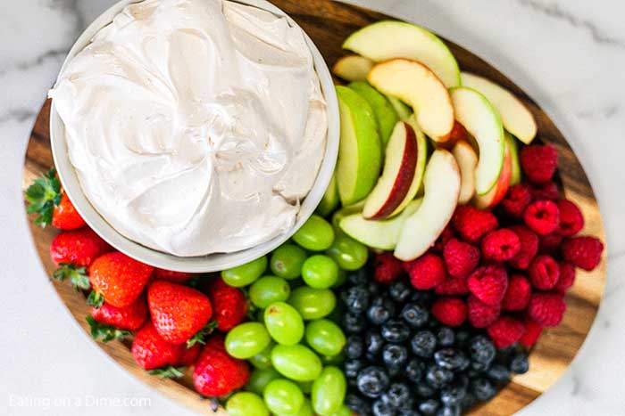 Looking for a delicious fruit dip? You are going to love this quick and easy strawberry fruit dip recipe. With just 3 ingredients you make this in minutes!