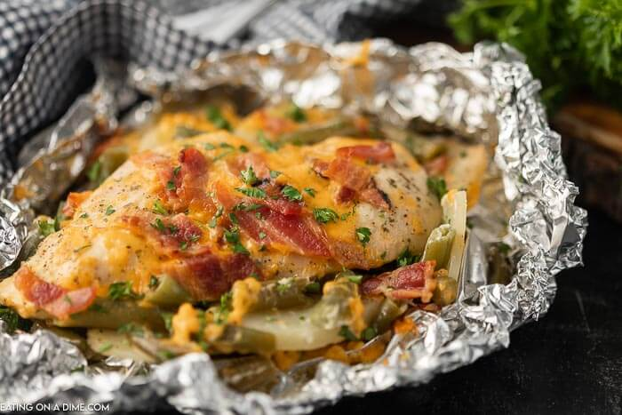 Bacon Ranch Chicken Foil Packet Easy Chicken Foil Packet