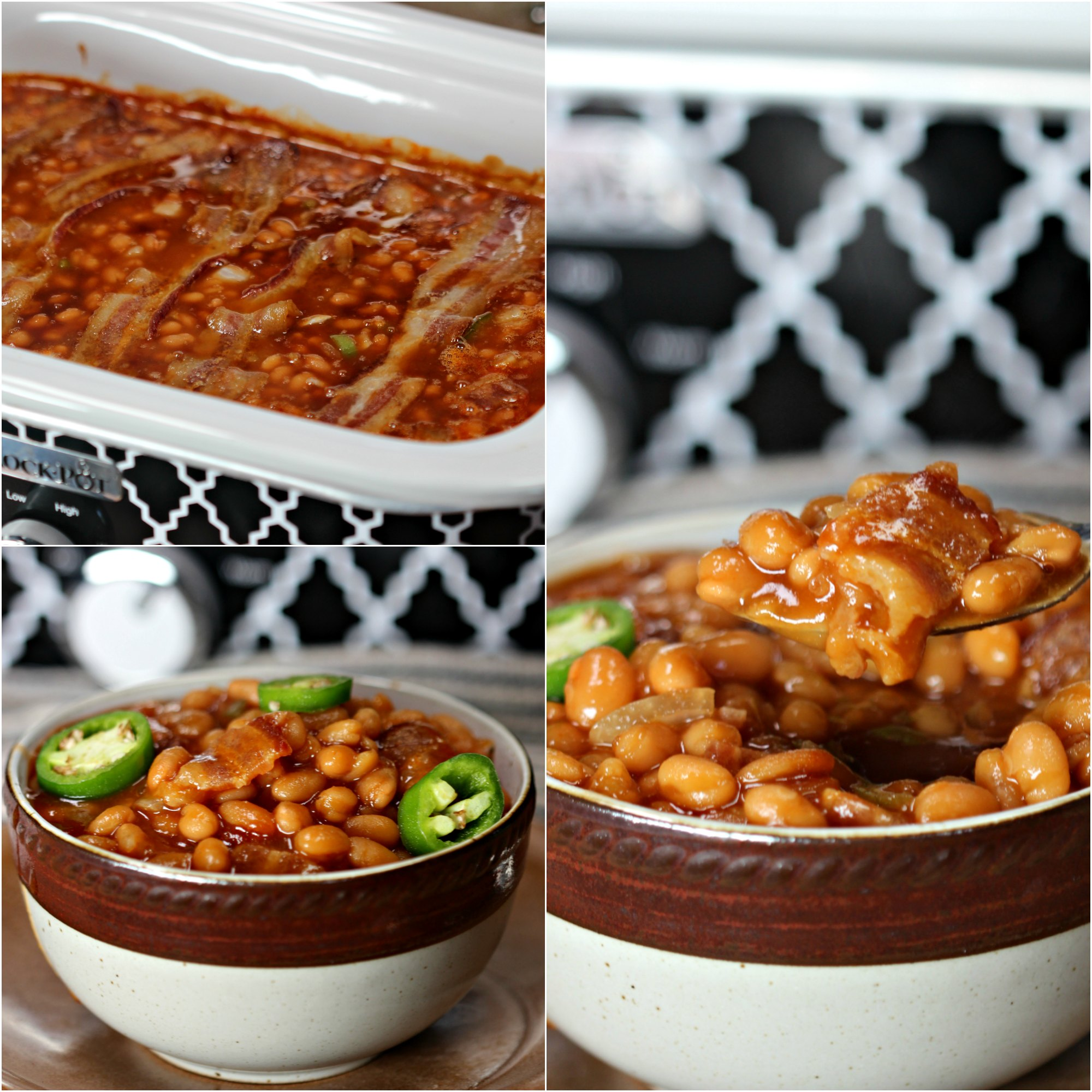 This crock pot baked beans recipe is amazing! It is the best baked beans recipe in the crock pot you can make! Spicy and sweet you have to try it!