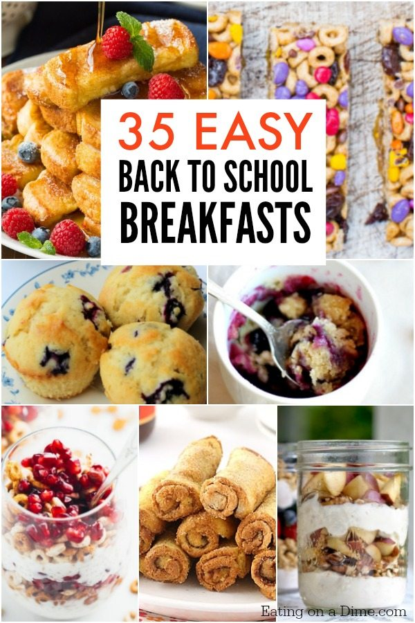 35 Back To School Breakfast Ideas Easy Breakfast Recipes