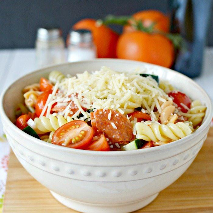 Easy Pasta Salad Recipe The Best Pasta Salad Recipe And It Is So