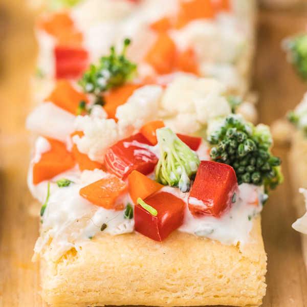 slices of veggie pizza
