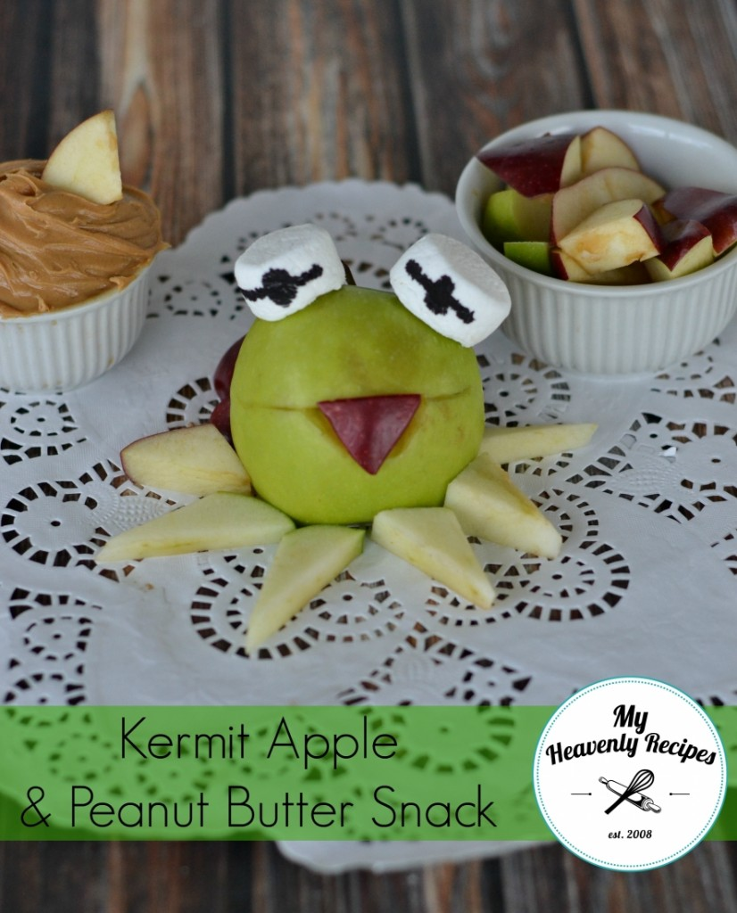 kermit frog snack with apples