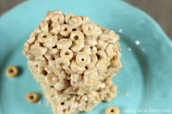 Try using cheerio cereal to make these yummy No Bake Cheerio Bars Recipe. Cheerio Treats are so simple. Cheerio Cereal Bar Recipe is the best!