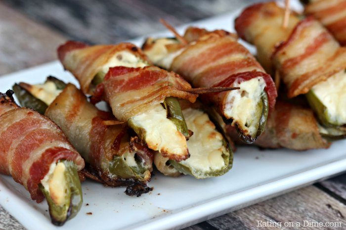 Bacon Wrapped Stuffed Jalapeño Poppers recipe - Easy ...