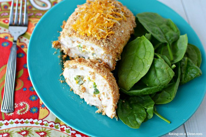 Try this easy Jalapeno Popper Stuffed Chicken Breasts Recipe. Chicken will never be boring again with this amazing combination of cheese and jalapeno's!