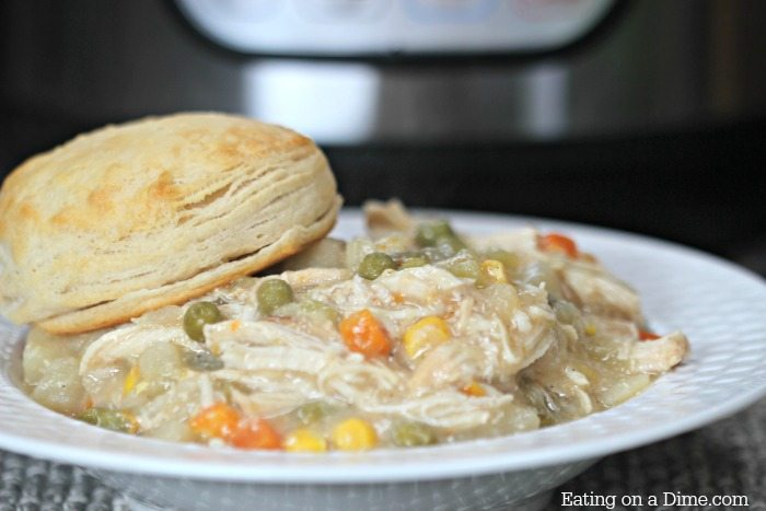 Easy chicken pot pie! You are going to love this Instant Pot Chicken Pot Pie Recipe. It is the best pot pie recipe ready in under an hour.