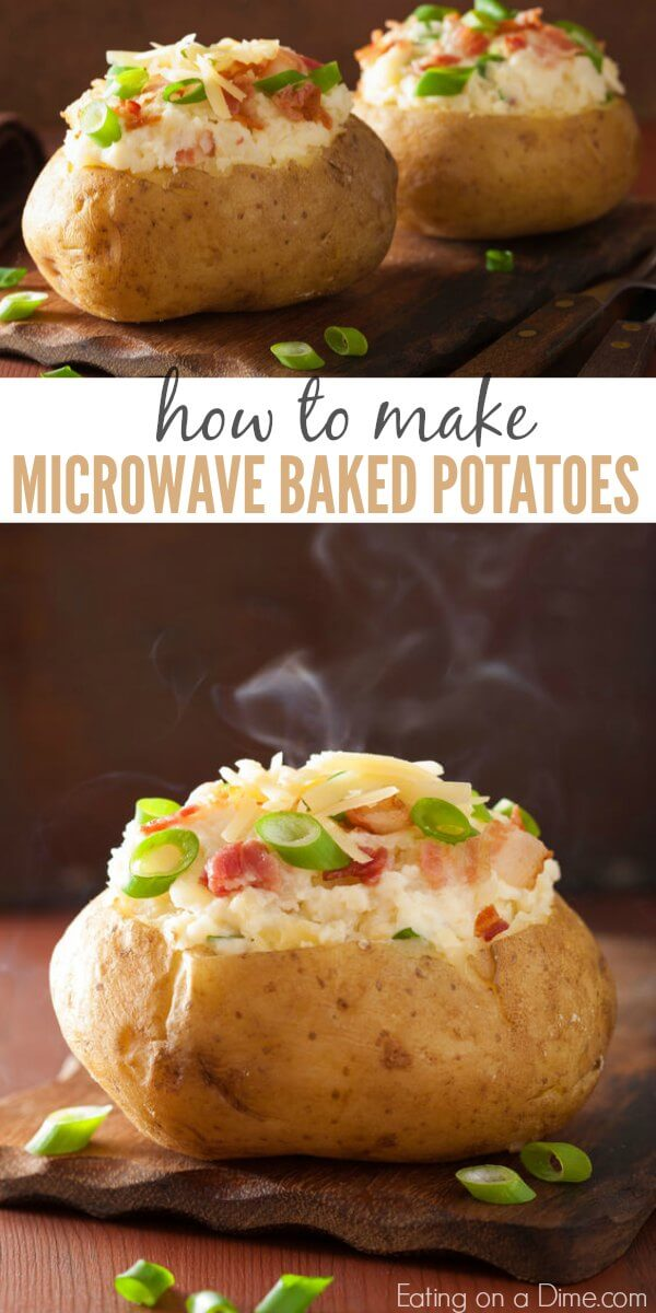 Did you know that you can make a microwave baked potato? Don't heat up your kitchen and still enjoy delicious baked potatoes in minutes! Learn how to cook a baked potato in the microwave. Once you know how to bake a potato in the microwave, it is so simple and easy! Try this for a quick side dish or meal idea!