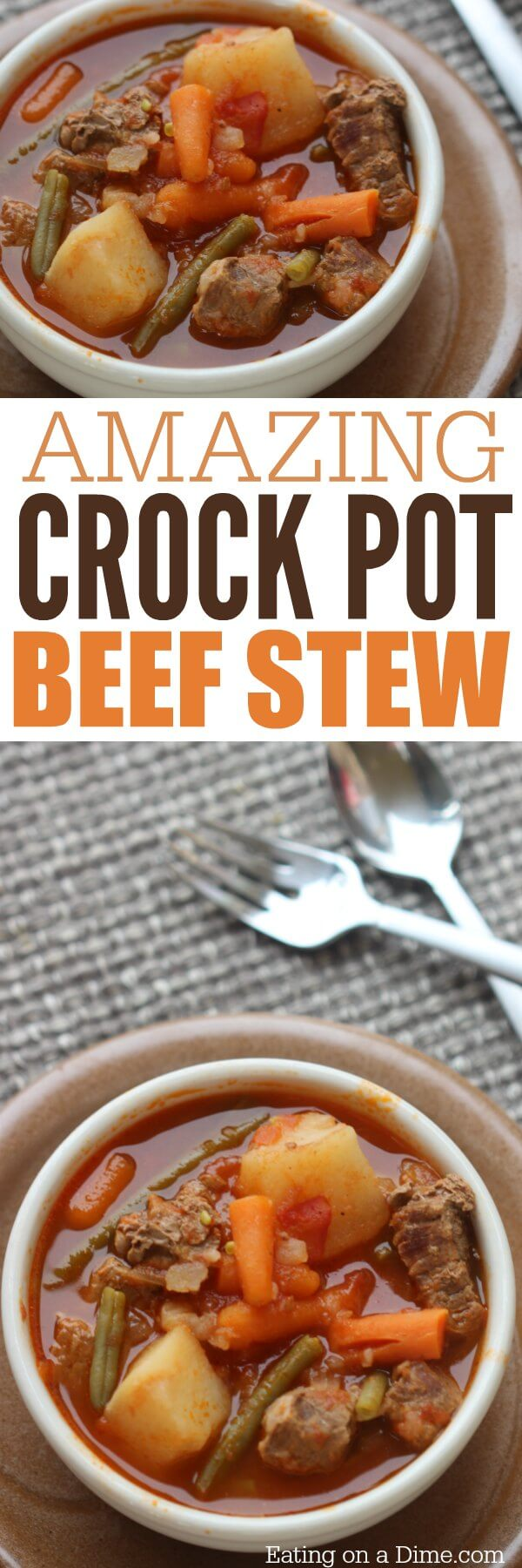 Quick Amp Easy Crock Pot Beef Stew Recipe Eating On A Dime