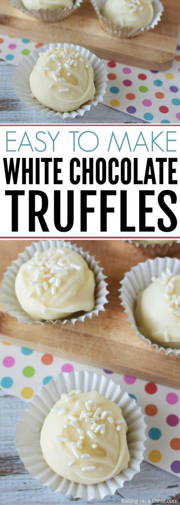 Try this easy White Chocolate Truffles Recipe! White Chocolate Balls Recipe is so easy. Everyone will love this White Chocolate Truffles Recipe!
