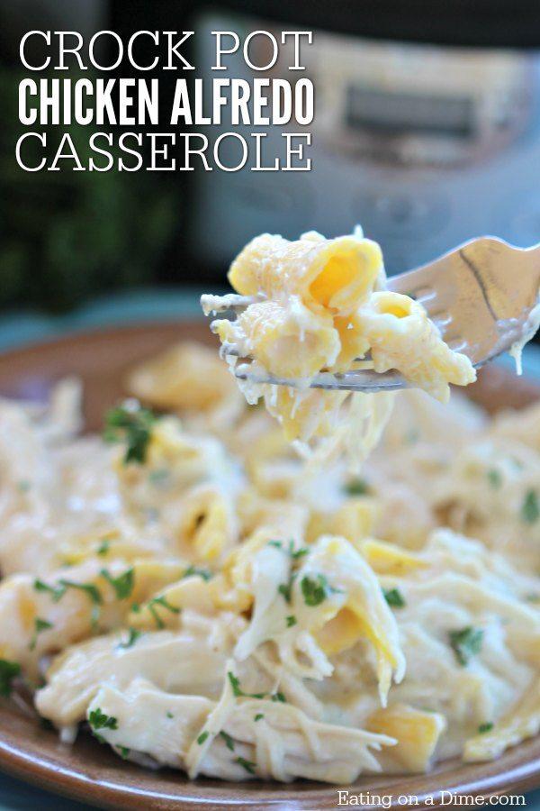Crock Pot Chicken Alfredo Casserole Recipe Chicken