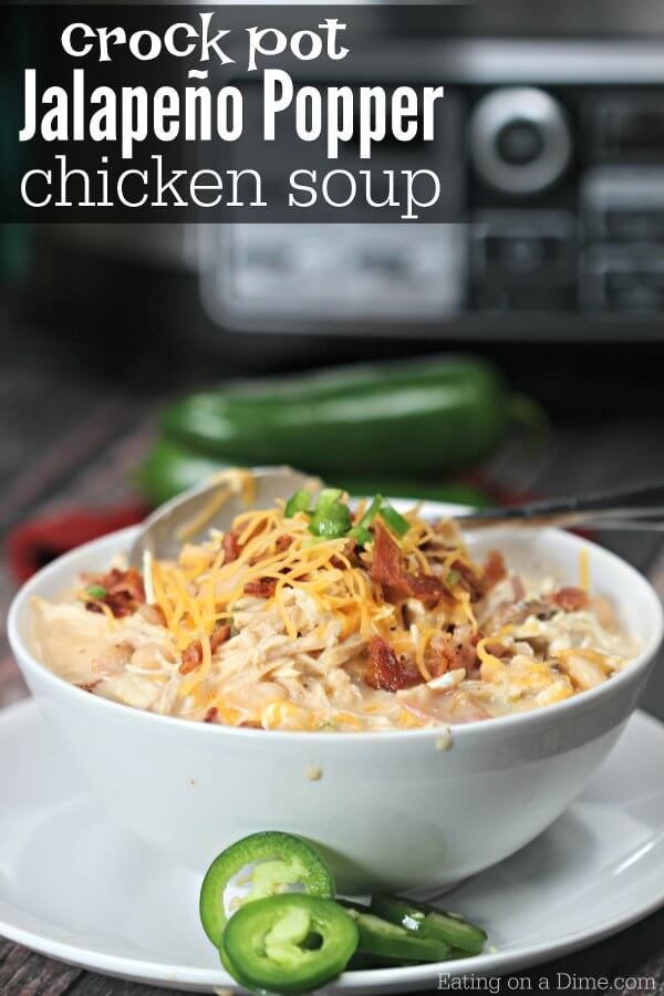 Crock pot jalapeño poppers chicken soup recipe Easy ...