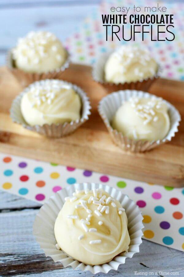 White Chocolate Truffles Recipe - White Chocolate Balls Recipe