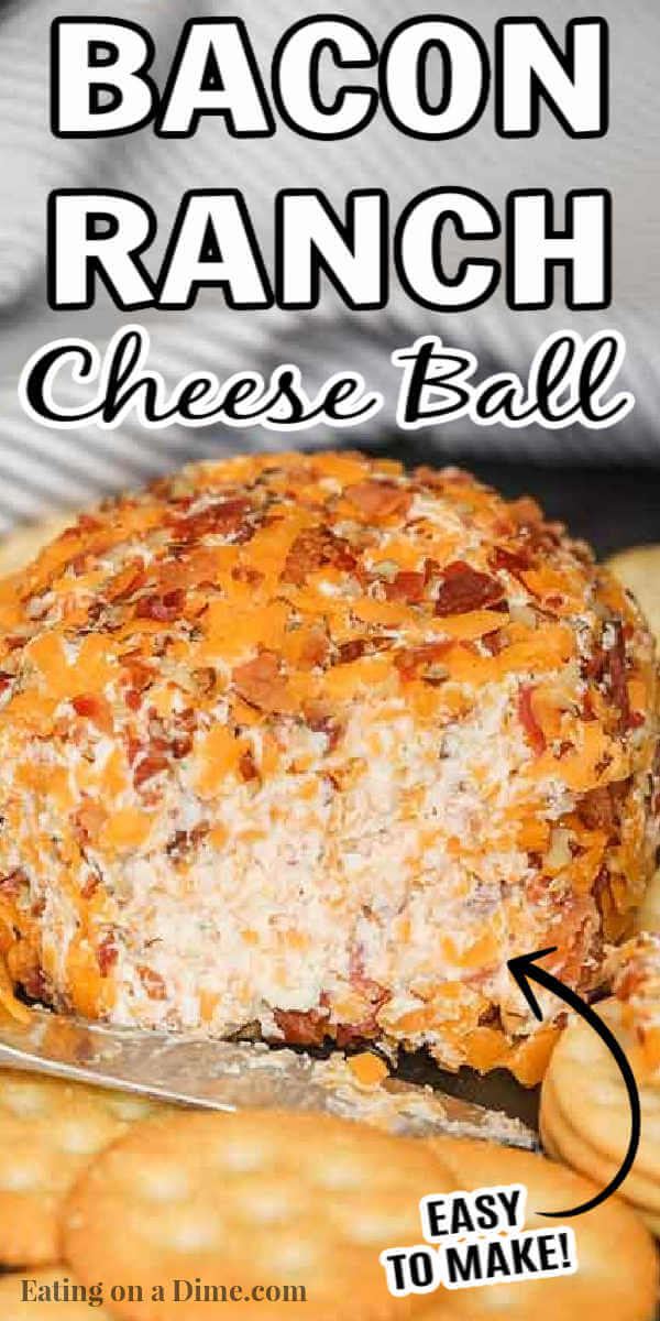 Need an easy appetizer recipe? Bacon ranch cheese ball recipe is a simple recipe but a real crowd pleaser. Everyone loves bacon!