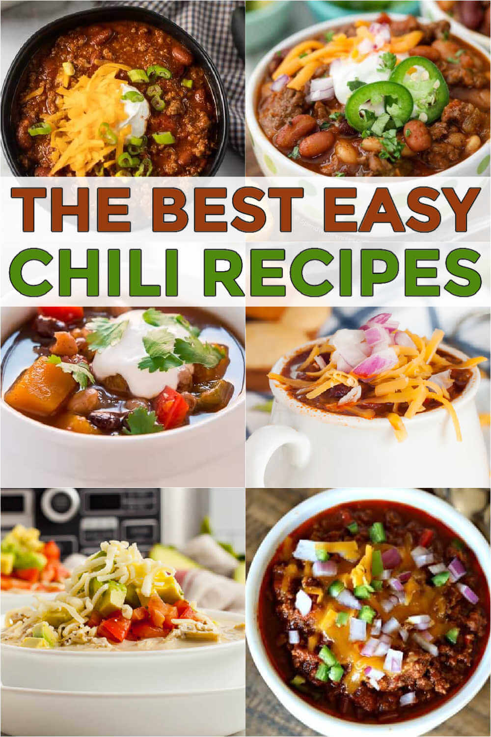 These are some of my favorite easy chili recipes. Some are with beans, some are with no beans, some are made in a crockpot and some on the stovetop. These are the best chili recipes that you'll ever try. You are going to love the best ever chili recipes! #eatingonadime #chilirecipes #easychilirecipes #comfortfoods