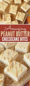 Peanut Butter Cheesecake Recipe will be a hit. Try Easy Peanut Butter Cheesecake Bites Recipe. Mini Peanut Butter Cheesecakes make the perfect dessert!