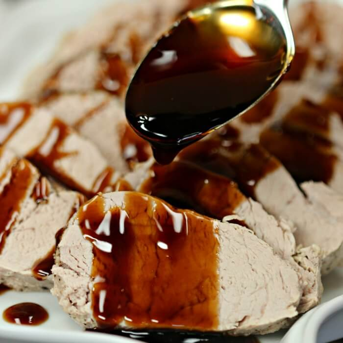 Try this simple  Balsamic Pork Tenderloin Crock pot Recipe! You are going to love this tasty Balsamic pork loin that you can quickly make in the crock pot!