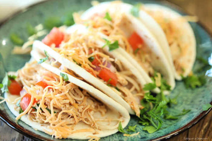 Crock Pot Shredded Chicken Tacos Slow Cooker Shredded Chicken Tacos